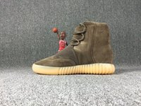 Wholesale 2016 Fashion Boost Kanye Sneakers Boots Shoes mens and women Triple Black boost Basketball Shoes high Running Sports