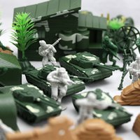 Wholesale 90pcs figures furnishing articles figure toy kits play sand toys Military soldier suit Corps WWII Soldier military war scene