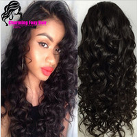 Cheap Factory wholesales #1B #2 #4 available Synthetic Lace Front Wig loose Wave Cheap Long Wavy Full Wigs For Africa american Women