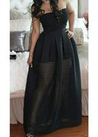 Wholesale Strapless Solid Black High Waist Maxi Dress summer casual dresses