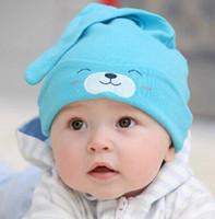 Cheap Newborn baby catton caps cartoon era cap winter earflap kids hats cute Long ears rabbit hats free shipping