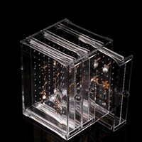 Wholesale Clear Acrylic jewelry Drawer Storage box Earrings necklaces rings bracelets display stand jewellery display show case organizer holder rack