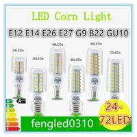 e26 led bulbs - SMD5730 E27 GU10 B22 E14 G9 LED lamp W W W W W V V angle SMD LED Bulb Led Corn light