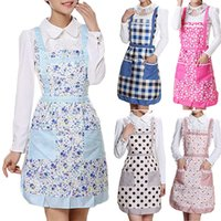 Wholesale Hot Sales Style Women s Bib Comfy Cooking Chef Floral Pocket Kitchen Restaurant Princess Apron