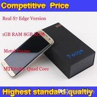Wholesale S7 Edge Version Goophone S7 edge Metal Frame GB RAM GB Rom Quad Core WCDMA G Network Smartphone DHL Free