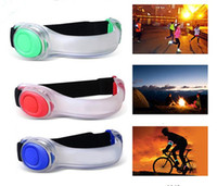 Wholesale Silicone Adjustable LED Armband Strap Safety Caution Reflective Belt Running Sports Cycling Light Waterproof