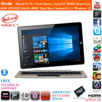 Wholesale Hot Onda Obook10 Inch Cherry AtomX5 Z8300 Quad Core Tablet PC Laptop GB LPDDR3 GB eMMC dual boot Android windows