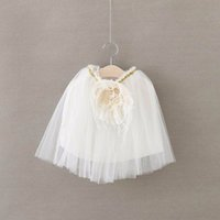 Wholesale EMS DHL Summer New Girls Princess Skirts Lace Flower TUTU Skirts Summer Style tutu Skirt