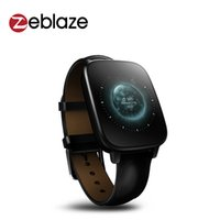Wholesale Zeblaze cristal MTK2502 Smartwatch freqüência cardíaca Relógio Inteligente telefone polegadas IPS Tela HD D do bluetooth relógio de pu