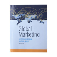 author marketing - 2016 New Book Global Marketing th Edition by Warren J Keegan Author Mark C Green Author