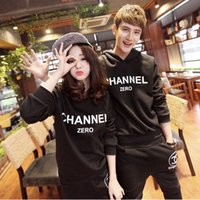 Wholesale Lovers new fall winter sports men and women Korean version of Slim casual suit tracksuits women
