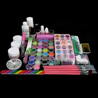 arte nail brush - Arte Clavo UV Gel Primer Top Coat Nail Brush Kit Nail UV Glitter Gel Cleanser Powder