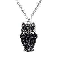 Owl Crystal Collier Tassel Drip Animaux ethniques Rhinestone Bijoux Fashion Collier Accessoires Collier Chaîne Pour Femmes