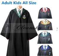 Wholesale 4 styles Harry Potter Costume Adult and Kids Cloak Robe Cape Halloween Gift Cosplay Harry Potter Cloak Robe Cape Harry Potter Costume M330