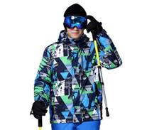 Wholesale Outdoor Snowboard Jacket Fashion Geometric Camouflage Waterproof Winter Jackets Travel Camping Climbing Skating Hiking Jacket