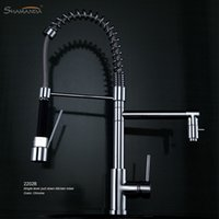 Wholesale Various Style Solid Brass Chrome Finished Pull Out Down Sink Kitchen Faucet Functions Mixer Tap Spring Faucet