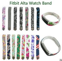 Wholesale Fitbit Alta Colorful Wrist Wearables Strap Band Silicone Replacement Strap For Fitbit Alta Watch No Tracker VS Milanese Loop Strap DZ09