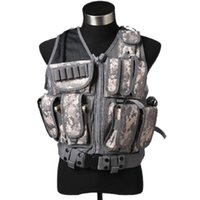 Wholesale Mesh Tactical Vest Combat Molle Military Multi Pockets Waistcoat with Holster Hunting Waregame Equipment Airsoft CS Training