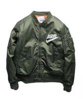 Wholesale Ma1 Bomber Jacket Big Sam Kanye West Yeezus Tour Pilot Anarchy Outerwear Men Army Green Kanji Japanese Merch Flight Coat