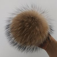 Wholesale real fur ball raccoon fur pom poms ball hats for shoes bags fur cap accessories cm