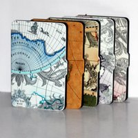 amazon map - For Amazon kindle paperwhite slim pu leather map printed inch ereader cover case pen stylus screen protector
