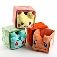 best kids storage - Poke Go Pikachu Storage box cm Anime Pikachu Plush Drawer Mini Kawaii Jewelry box Best Christmas Birthday Gifts
