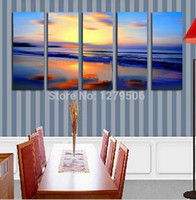 beautiful twilight - Handmade Oil Painting On Canvas Wall Art Home Decor For Living Room As Unique Gift Pieces set Beautiful Twilight Decor