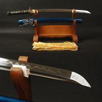 art clay japan - Full Tang Folded Steel Layers Clay Tempered Blade Handmade Sharp Japanese Samurai Sword Wakizashi Vintage Home Decoration