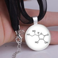 acid chemistry - One Chemistry Jewelry Ascorbic Acid Glass Pendant Necklace Science Jewellery colors drop shipping YLQ0110