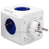 Wholesale Allocacoc Original PowerCube Socket DE Plug Outlets Dual USB Ports Adapter A V