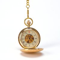 advances mixes - Luxury Gold Royal King Crown Art Designed Mechanical Hand Wind Advanced Pocket Watch Mixed