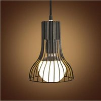 Wholesale 2016 New Arrival Aluminum R7s Lampenschirm The New Art Deco Style Antique Chandelier Lamp Wire Paint Horn Type E27 Steel Glass Lampshade