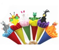 bee puppets - Animals Pop Up Puppets Telescopic Stick Rods Doll Fox Crow Bee Frog White Rabbit Gray Wolf Kids Child Baby Wooden Funny Toys
