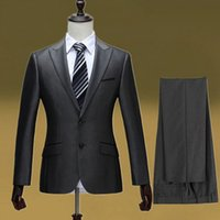 Wholesale Jackets Pants Classic Style Brand Mens Suits With Pants Business Party Light Grey Blazer Jacket Man Men Suits Wedding Groom