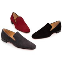 Wholesale Red Bottom Loafers Shoes For Men Women Slip On Oxfords Business Shoes Luxury Dandelion Flat Wedding Party Dress Shoes