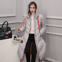big black clothing - Long Down Jacket Women s Fashion Loose Big Yards Hooded Down Long Thickening Cotton padded Clothes Han Edition Winter