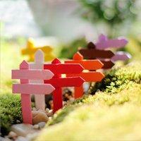 Wholesale Succulent plants DIY microlandschaft Road LED wood fence flowerpot decorative DIY cactus bonsai