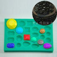 Wholesale 1pcs diamond shape fondant cake sugar craft decorating tools gem jewelry Chocolate clay mold baking pastry moulds