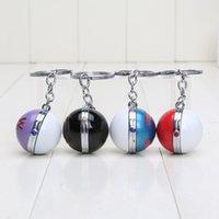 anime toys - 4pcs set Poke Ball Anime Action Figures Toys Poket center PokeBall keychain cm pendant Juguetes kids toy