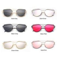 aviator eye glasses - 2016 New Cat Eye Aviator Sunglasses Women s Vintage Brand Designer Mirror Sun Glasses Oculos De Sol Feminino