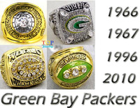 Cheap 1966 1967 1996 2010 super bowl replica Championship Rings Size 11 With Box