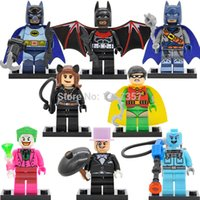 Wholesale XINH DC Super Heroes Batman Joker Mister Freeze Minifigures Building Blocks Sets Models Brick Figure Toys For Children