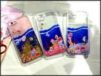 "Cheap CellPhone Case for iPhone 6 4.7"" Plus 5.5'' Liquid Swim Fish Dynamic Ocean Sea World Quicksand Transparent Back Cover For iPhone 6 6s plus"