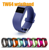 Wholesale Tw64 Smartband Smart bracelet activity wrist bands Wristband Fitness tracker Bluetooth fitbit flex Watch for ios android