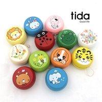Wholesale Wooden lion tiger rabbit yo yo wooden cm toys ball Kids fun toys