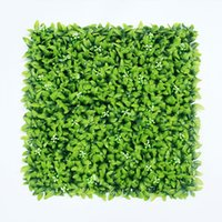 Wholesale 12 Pieces cm x cm Artificial Hedge Mat Fake Ivy Fence Artificial Boxwood Outdoor Privacy for Garden Decoration