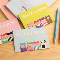 Wholesale New Cute Cartoon Iron Absorption Paging Magnetic Bookmarks Stationery Gifts H0245