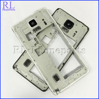 Wholesale DHL White Black replacement For Samsung Galaxy Note N910F N910P N910A Bezel Plate Middle Frame Housing Per Buzzer Camera Lens