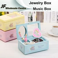 Wholesale New Jewelry Box Music Box Birthday Gift Toys For Children Bless Animated Luxury Go Round Musical Rotate the girl Classic Music Box