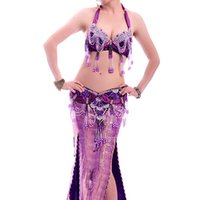 bellydance bra - Belly Dance Outfit Bra Waist Belt Bellydance Costume Professionals Colors Traje Danza Del Vientre Bollywood Costumes
